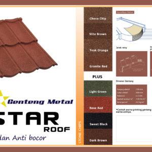 Atap Genteng Metal Star Roof