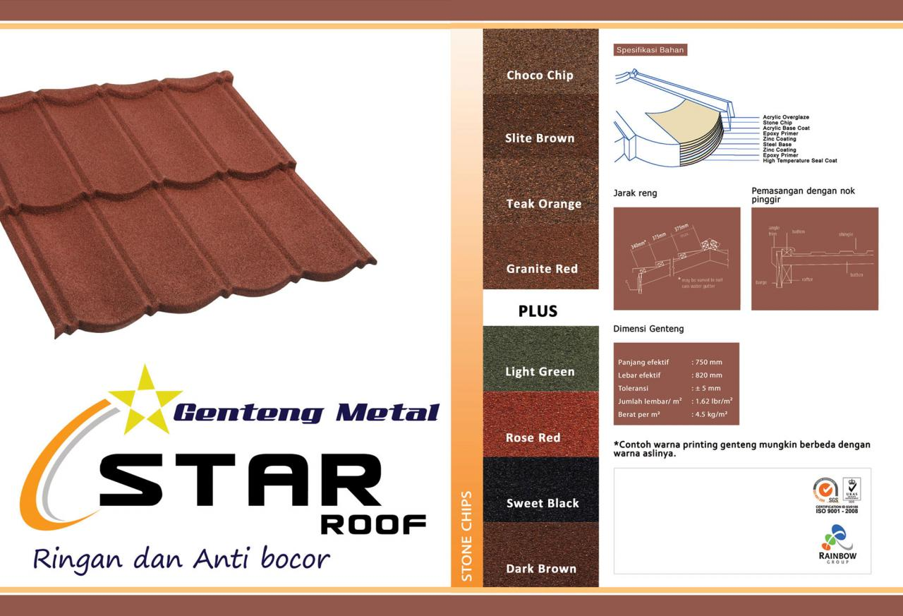 Atap Genteng Metal Star Roof