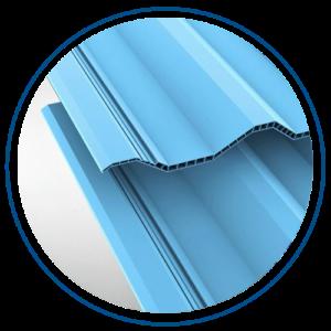 Overlap atap uPVC